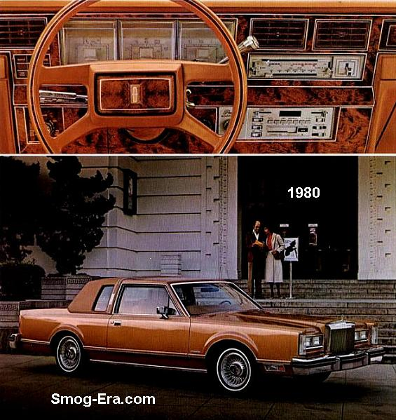 Lincoln Town Coupe Smog Era Com 70s 80s Cars