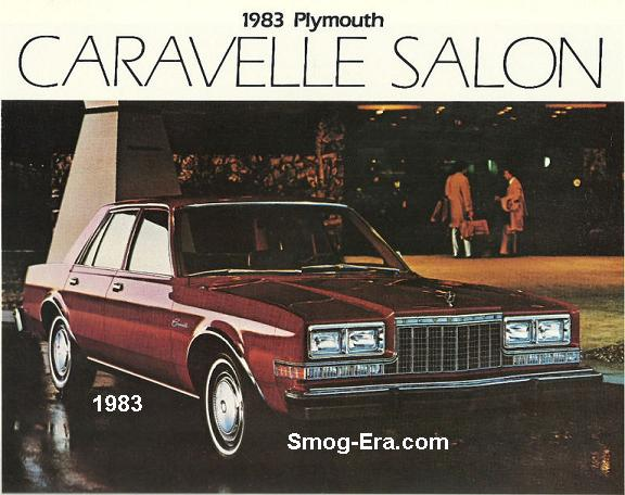 Plymouth Caravelle Salon Smog Era Com 70s 80s Cars